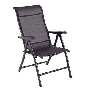 Black Steel Foldable Recliner Chair | New & Improved