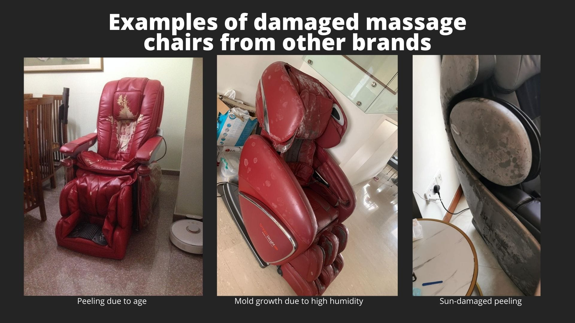 Damaged Massage Chair from other brands