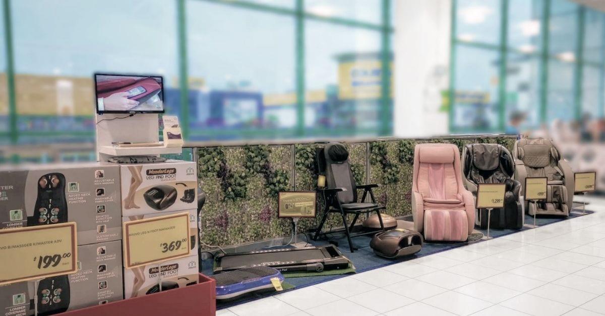 Real life miuvo station at Giant Tampines Hypermarket