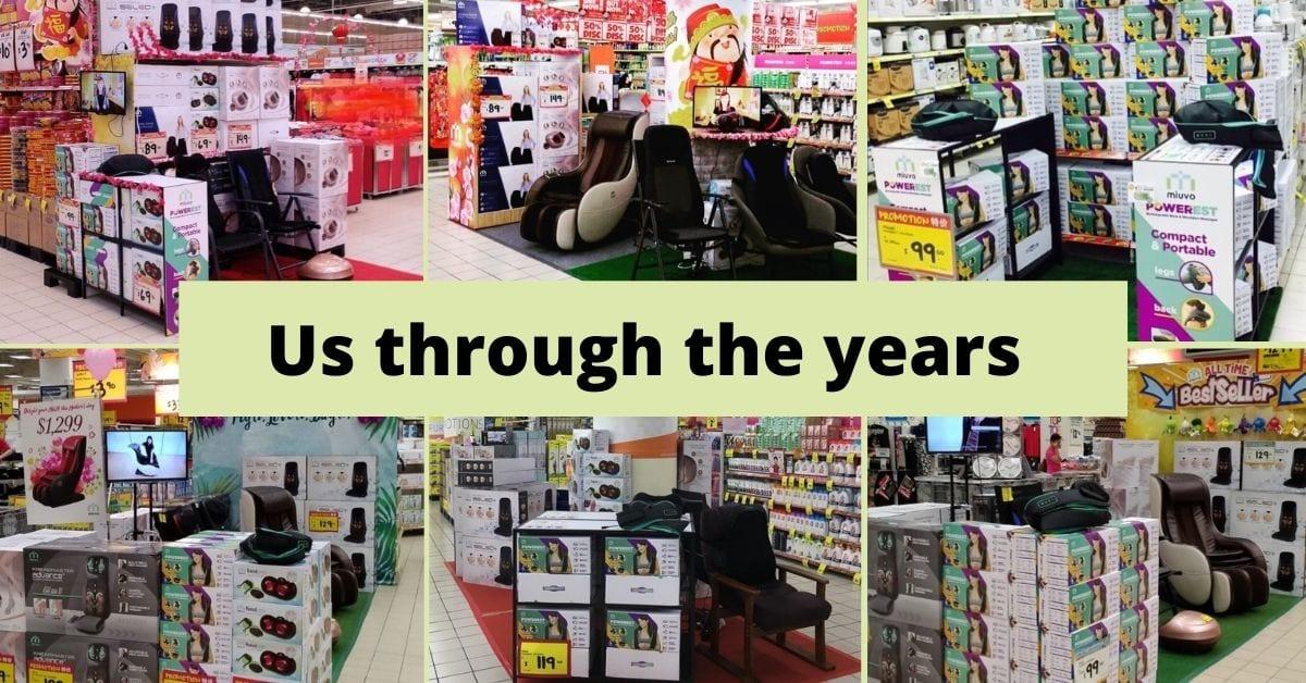 Miuvo in various Giant Hypermarket through the years