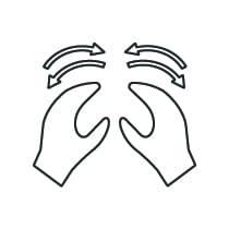 Kneading massage icon