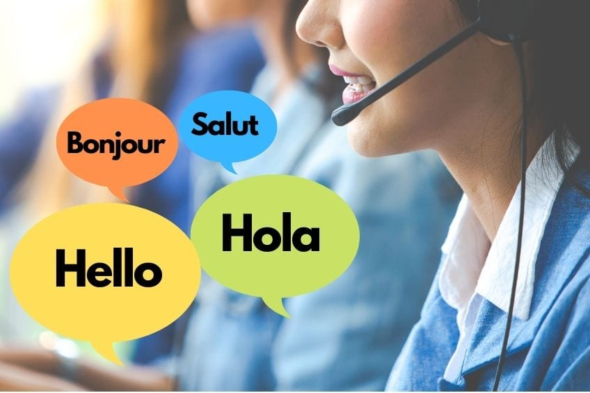 language barrier with sales and support